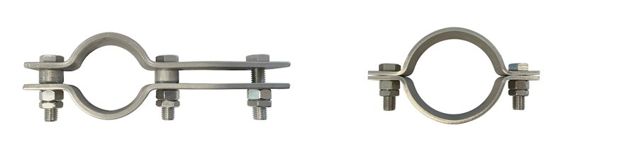 2 and 3 bolt Steel Pipe Clips