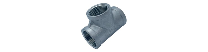 BSP Equal Tee Pipe Fitting - Stainless steel