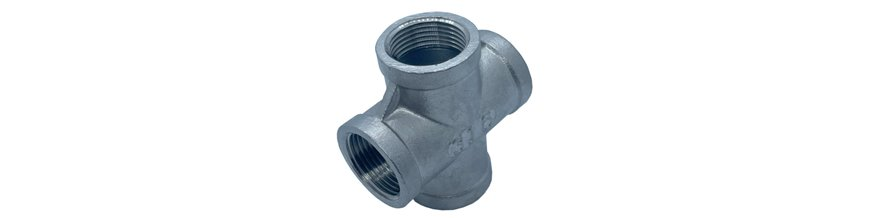 BSP Cross Pipe Fittings - Stainless Steel